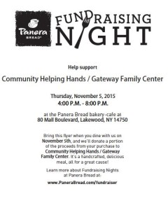 Panera Fundraising Night.