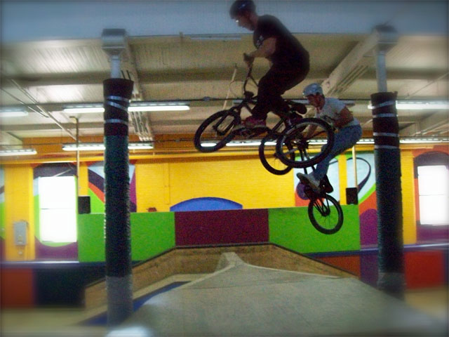 BMX indoor skate park